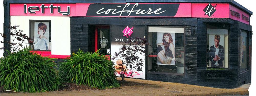 Façade du salon Letty Coiffure